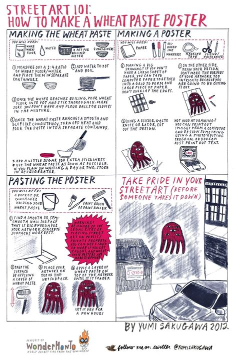 How To Make A Paper Poster - 101 how to make a wheatpaste poster 171 the