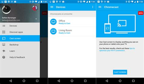 chromecast app for android chromecast app gets a material design update with guest mode and more