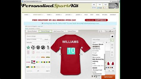 design your own kit home online design your own football kit online football shirt printing and custom sportswear youtube
