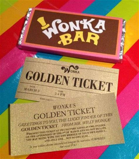 Willy Wonka Invitations Templates by Unique Golden Ticket Ideas Get Reading Library With Ticket