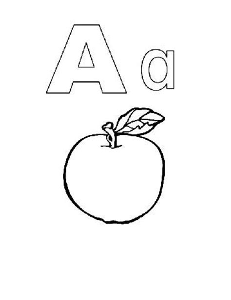 Preschool coloring pages alphabet alphabook a
