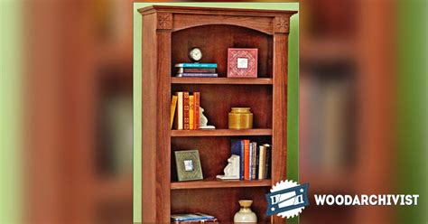 1471 classic bookcase plans woodarchivist