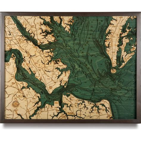 home decor stores in virginia beach norfolk va wood map 3d nautical topographic chart