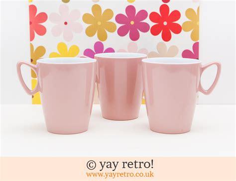Mug Hello Pink Melamin 3 pink melamine mugs vintage shop retro china