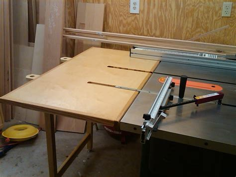 outfeed table for my tablesaw that is removable and can