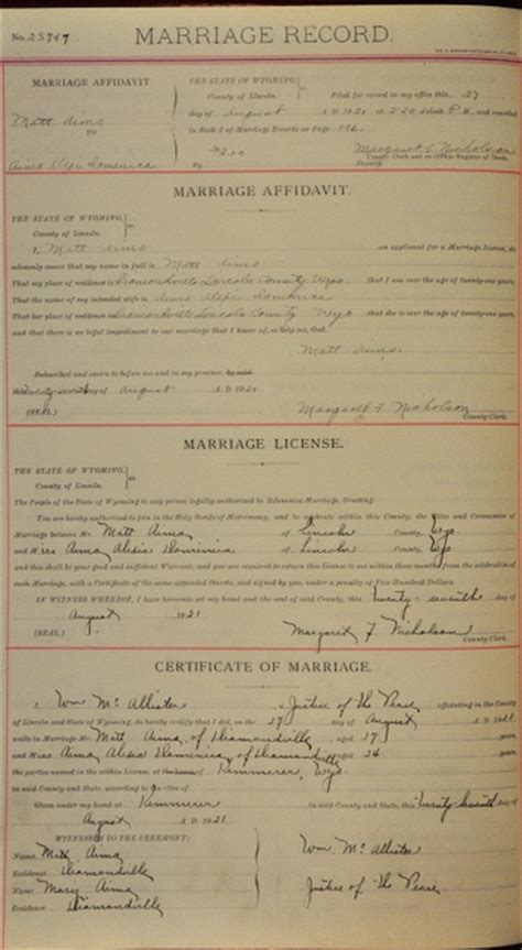 Lincoln County Marriage Records Lincoln County Historical Societies 2 Lincoln County 1913 And Later