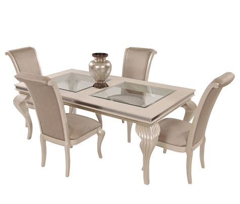 American Drew Dining Room Set by Hollywood Swank Dining Table In Pearl Caviar By Aico