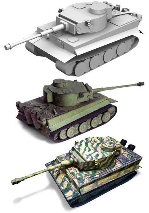 Papercraft Tanks - tiger i papercraftsquare free papercraft