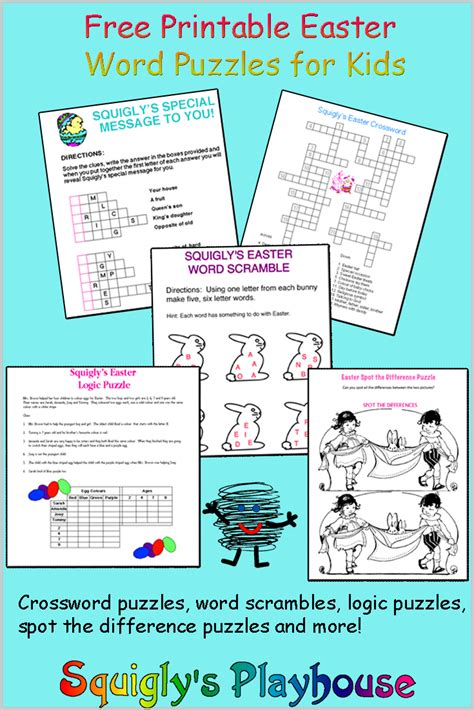 printable easter logic puzzles easter puzzles at squigly s playhouse