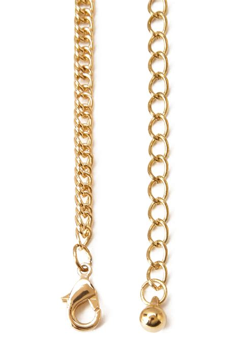 Hanging Chain In by Forever 21 Two Tone Hanging Chain Necklace In Metallic Lyst