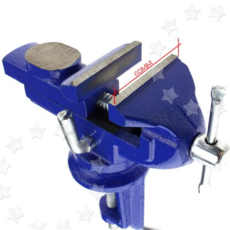 bench top vice 60mm revolving mini vice model clamp steel bench vice