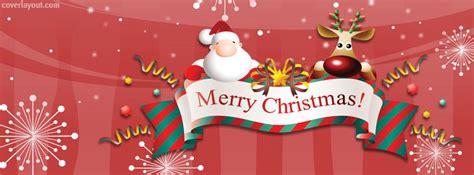 santa reindeer merry christmas banner facebook cover coverlayoutcom christmas facebook cover