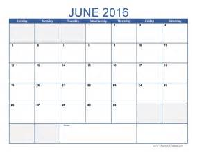 2016 Calendar Template by June 2016 Calendar Template Monthly Calendar 2016 Pdf