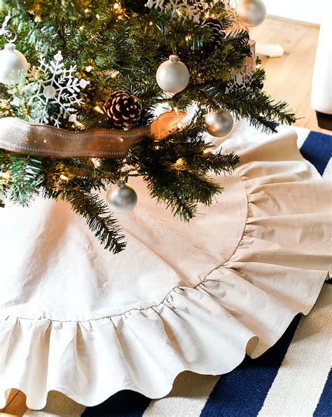 how to make a tree skirt drop cloth ruffle tree skirt it all started
