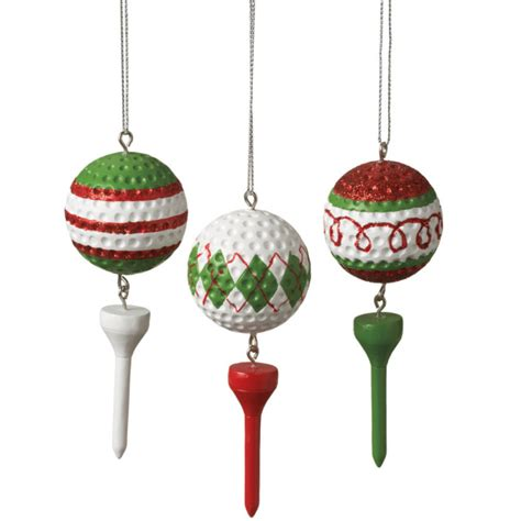golf ball tee christmas ornament set of 3 what to do