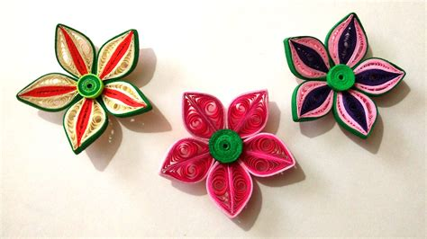 Paper Quilling How To Make Flowers - how to make beautiful 3d flower using paper quilling