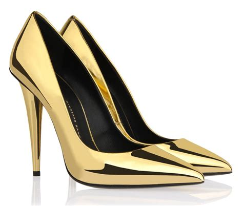 gold high heel giuseppe zanotti s gold mirror pumps high heels daily