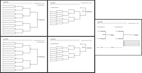 knockout draw sheet template strongvon free blank bracket sheets