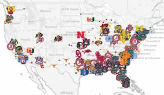 map us colleges how local recruiting dictates scheme mapping college football s elite talent sbnation