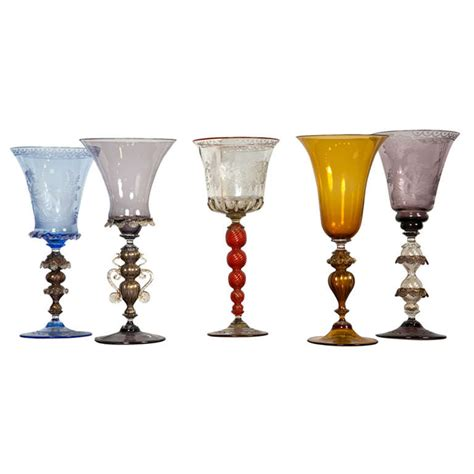 Ct Home Interiors by Venetian Glass Goblets For Sale At 1stdibs