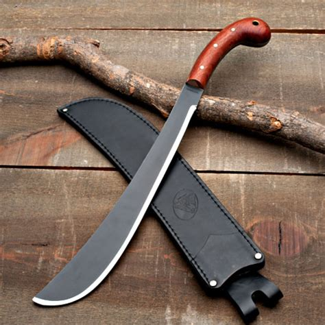 Best American Made Kitchen Knives by Machete With Leather Sheath Golok Full Tang Garrett Wade
