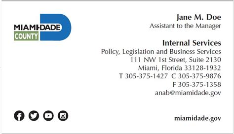 2 2 Business Cards Miami Dade County Miami Dade Report Card Template