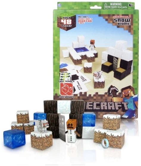 Papercraft Kits - overworld snow biome minecraft papercraft kit series