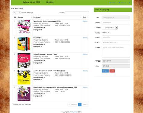membuat web perpustakaan free aplikasi angket php mysql jquery jqgrid
