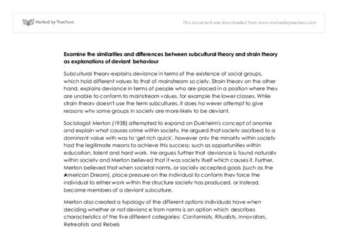 Deviance Essay by Deviant Behavior Essays