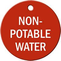 non potable water engraved valve tag 2 sided material