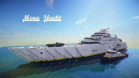 big boat minecraft map minecraft mega yacht speed build final part youtube