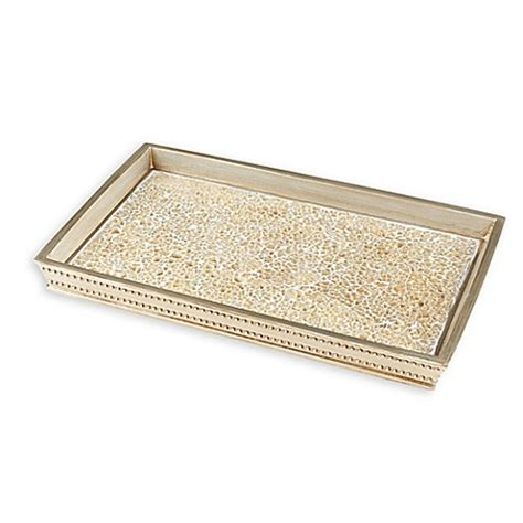 gold crackle bathroom accessories gold crackle mosaic vanity tray bed bath beyond