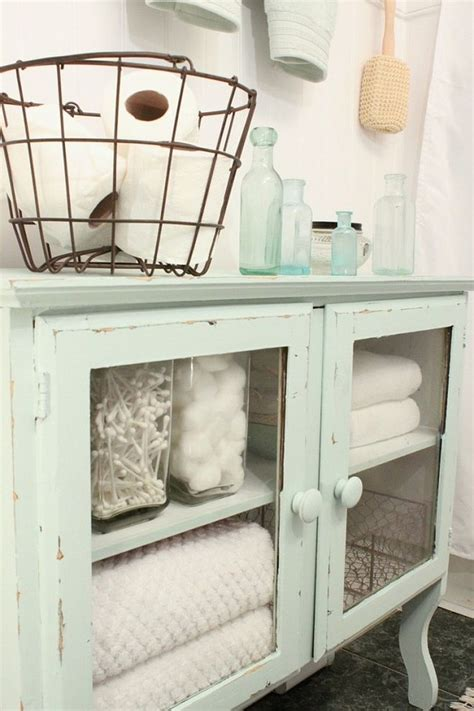 Vintage Bathroom Cabinets For Storage Revitalized Luxury 30 Soothing Shabby Chic Bathrooms