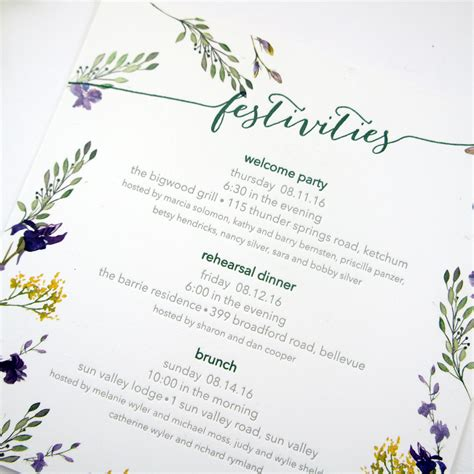 Idaho Wedding Invitations Printed by Illustrated Wildflower Wedding Invitations