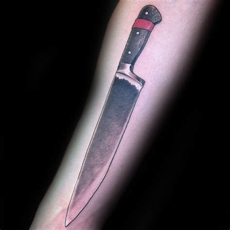 Which Kitchen Knives Are The Best by 60 Chef Knife Tattoo Designs For Men Cook Ink Ideas