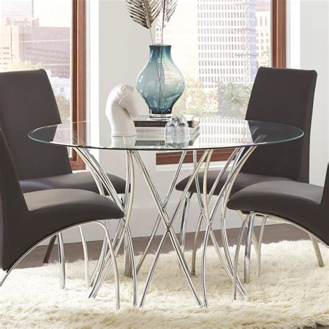 coaster glass dining table coaster cabianca contemporary glass dining table