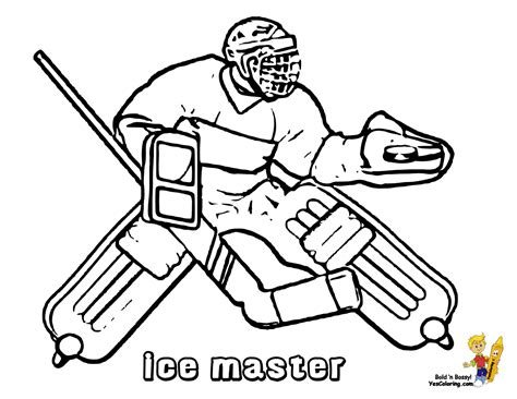 coloring pictures of hockey goalies power house hockey coloring goalie tell other kids you
