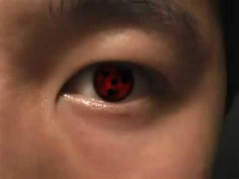 real red sharingan color contact lenses youtube