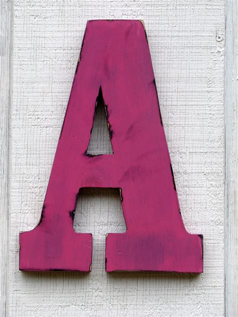 3 d large wooden letters home decor rustic by