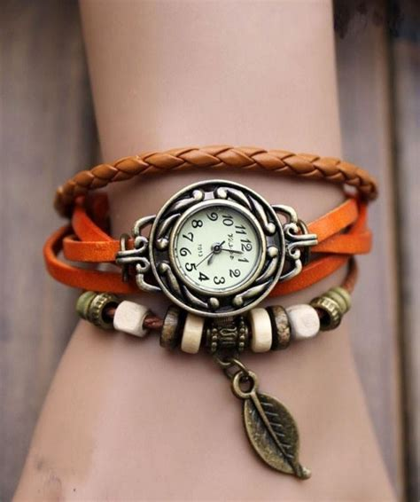 beaded watches beaded woven leather layered bracelet ancient