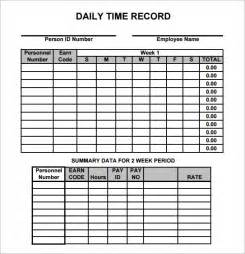 daily work record template daily timesheet template 9 free for pdf excel