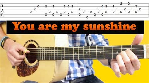 fingerstyle tutorial you are my sunshine johnny cash you are my sunshine le 231 on acoustique
