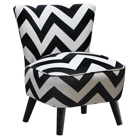 accent chair  black  white chevron upholstery  matching piped trim  sale  joss