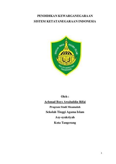 Ketatanegaraan Indonesia sistem ketatanegaraan indonesia