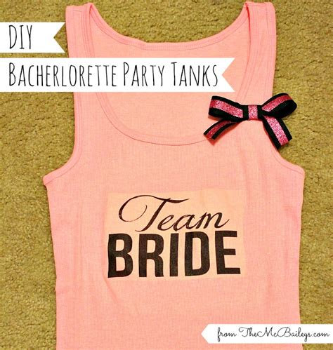 diy bachelorette diy bachelorette tanks the mcbaileys