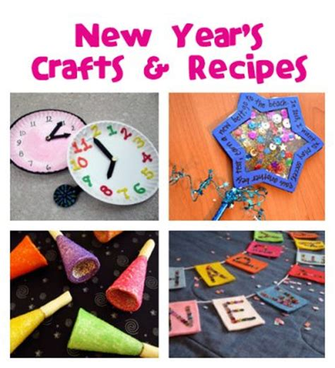new year and craft projects happy new year crafts