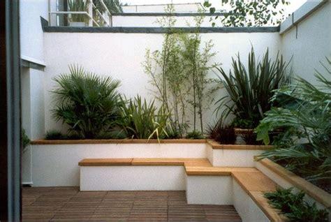 decorar patio con bancos decorar con maceteros y bancos de obra original dise 241 o