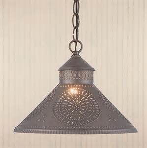Punched Metal Pendant Light Punched Tin Shade Light In Black