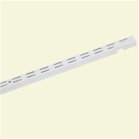 closetmaid shelftrack 84 in x 1 in white standard