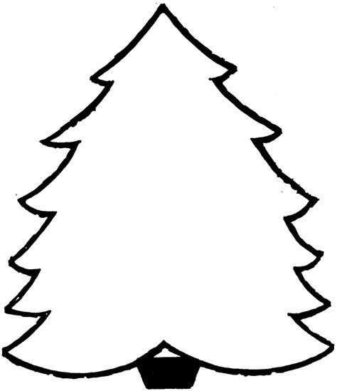 blank christmas tree coloring pages for kids cooloring com